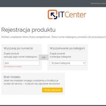 strona rejestracji produktu