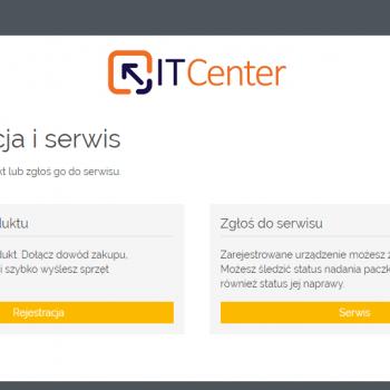 rejestracja i serwis ITCenter