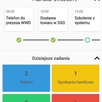 plan dnia i zadania w aplikacji mobilnej