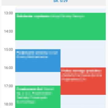 kalendarz w aplikacji