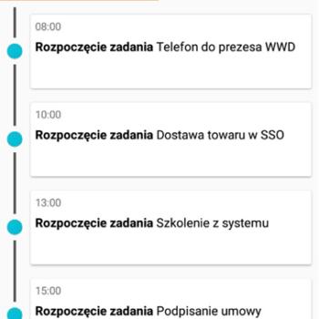 plan dnia w aplikacji